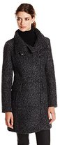 London Fog Women's Wool-Blend Boucle Coat
