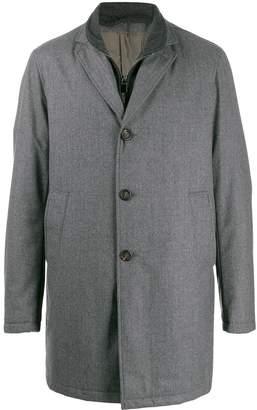 Canali layered single-breasted coat
