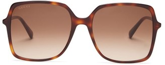 Gucci GG Oversized Tortoiseshell Acetate Sunglasses - Tortoiseshell