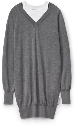 Alexander Wang Wash + Go Bi-Layer Sweater Dress