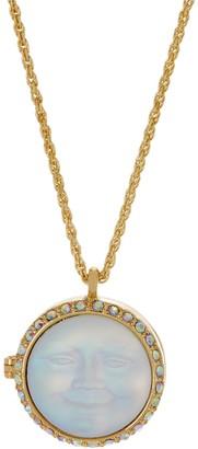 Kirks Folly Love Never Dies Seaview Moon Locket Necklace