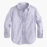 J.Crew Girls' button-down shirt in stripe