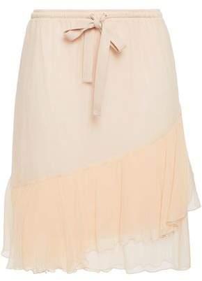 See by Chloe Ruffled Georgette Mini Skirt