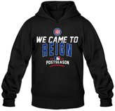 HDFGFJJSSBF Men's Chicago Cubs 2016 Postseason Collection We Came To Reign Hoodie