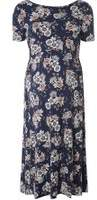 Dorothy Perkins Womens **Maternity Navy Floral Skater Dress- Blue