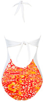 Caffe Swimwear - Necktie One Piece In Orange Leopard