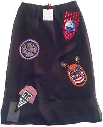 Stella Jean Black Silk Skirts