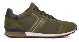 Running-inspired hybrid sneakers with bamboo-charcoal lining
