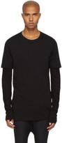 11 By Boris Bidjan Saberi Black Diagonal Graphic T-shirt