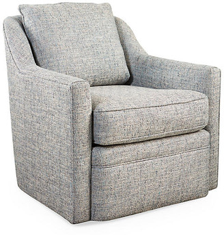 One Kings Lane Chelsea Swivel Chair - Ice Blue