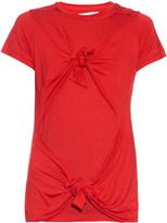 Marques Almeida MARQUES'ALMEIDA Slashed-knotted short-sleeved T-shirt