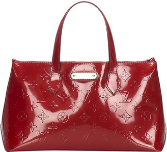 Louis Vuitton Red Monogram Vernis Wilshire PM Bag