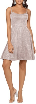 Xscape Evenings Glitter Double Strap Party Dress