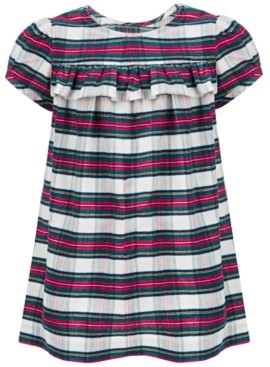 First Impressions Baby Girls Tartan Plaid Dress, Created for Macy's