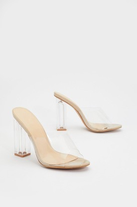 Nasty Gal Womens In the Clear Block Mules - Nude
