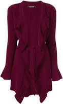 Roberto Cavalli asymmetric belted cardigan - women - Viscose/Cashmere/Lambs Wool - 42