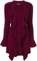 Roberto Cavalli asymmetric belted cardigan - women - Viscose/Cashmere/Lambs Wool - 44