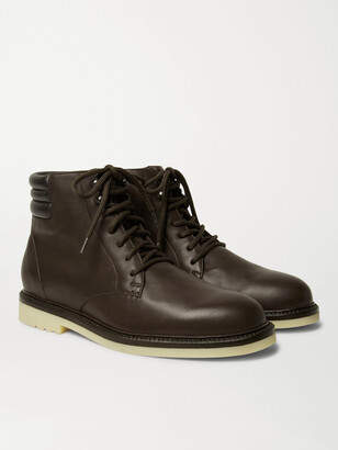 Loro Piana Icer Walk Leather Boots - Men - Brown