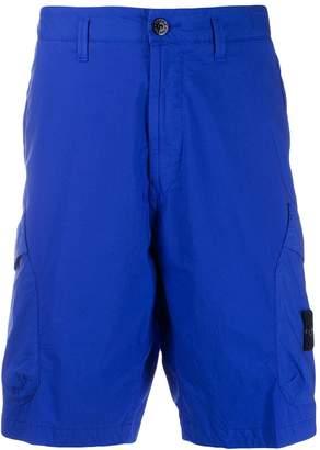 Stone Island logo patch Bermuda shorts