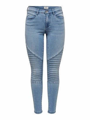Only Women's ONLROYAL REG SK Biker ANK BB BJ14951-2 Skinny Jeans