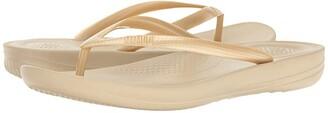 FitFlop Iqushion Ergonomic Flip-Flop (Gold) Women's Sandals