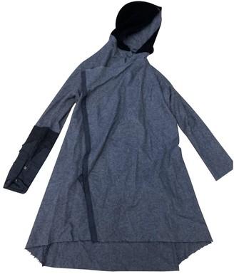 Greg Lauren Grey Wool Coat for Women