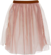 Marni Edition Cotton skirt with multi-tulle panel