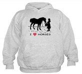 CafePress - I Love Horses W/ Horse & Girl - Kids Hooded Sweatshirt, Classic Hoodie