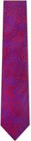Duchamp Two-tone paisley silk tie