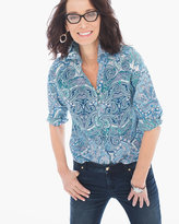 Chico's Gabrielle Paisley Shirt