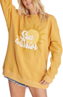Wildfox Couture Roadtrip Sun Graphic Oversize Sweatshirt