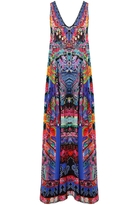 Camilla Pretty Precession Long V Neck Drawstring Dress