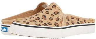Keds Double Decker Mule Leopard (Brown) Women's Shoes