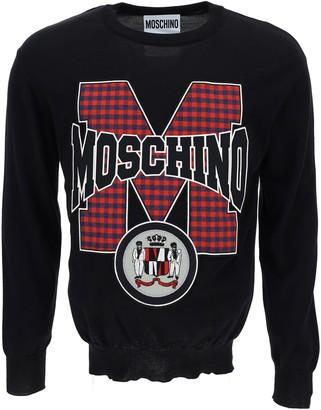 Moschino Ribbed Crewneck Sweater