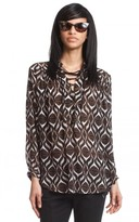 Tracy Reese Lace-up Blouse