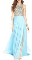 Mac Duggal Women's Embellished A-Line Chiffon Gown