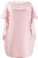 Valentino lace cape shift dress