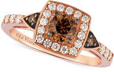 LeVian Le Vian Chocolatier Chocolate Diamond and White Diamond Ring in 14k Rose Gold (7/8 ct. t.w.)