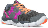Under Armour Little Girls' Engage BL Velcro Running Sneakers from Finish Line