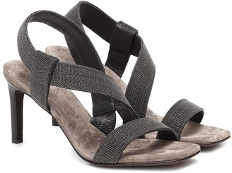 Brunello Cucinelli Embellished leather sandals
