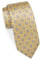 Saks Fifth Avenue 7-Fold Medallion Silk Tie