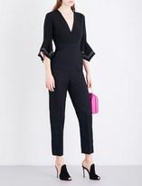 Roksanda Kasumi V-neck wool and silk-blend jumpsuit