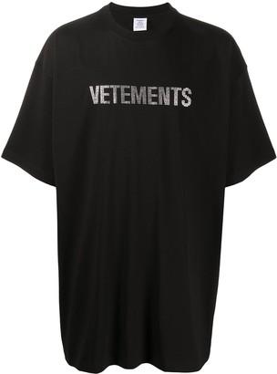 Vetements oversized logo T-shirt