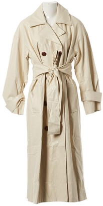 Rejina Pyo X Vestiaire Collective Ecru Leather Trench coats