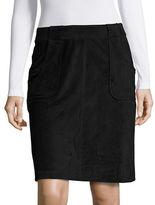 BB Dakota Faux Suede A-Line Skirt
