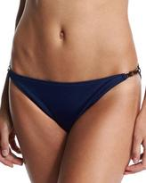 Milly Positano Solid Swim Bottom with Bar Detail