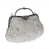 Toyofmine Women's Evening Bag Beaded Sequin Kiss-lock Wedding Party Clutch Handbags