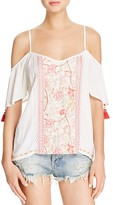 Band of Gypsies Gauze Cold Shoulder Top
