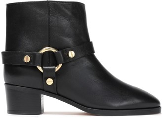 Stuart Weitzman Embellished Leather Ankle Boots