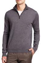 Toscano Merino Wool Half-Zip Sweater